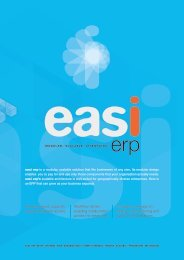 Features of easi ERP - EXILANT Technologies