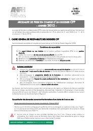 CFP - Priorités et critères PEC MID 2013 - ANFH