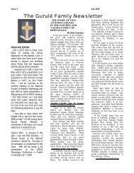Gurule Family Newsletter Issue 3 - Gurule Family Surname