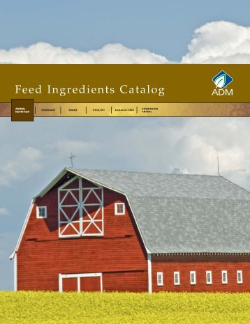 Feed Ingredients Catalog - ADM
