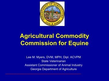 Agricultural Commodity Commission for Equine