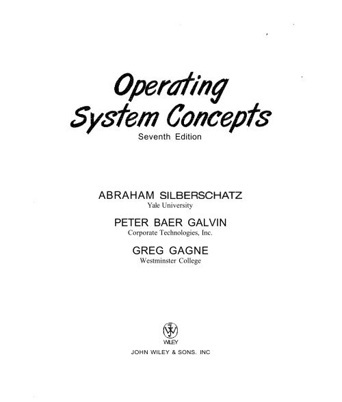 Operating System Concepts 7th Edition Pdf