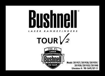 201930/201933/201940 Literature #: 98-1649/07-11 - Bushnell Golf