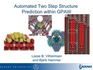 Automated Two Step Structure Prediction within GPAW