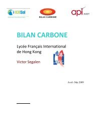 Bilan carbone au Lycée Français International Victor Segalen