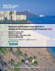 Abstracts and Insights From AAN 2011: Update on ... - Medscape