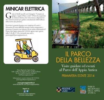 PROGRAMMA PRIMAVERA - ESTATE 2013 - Parco Appia Antica