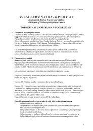 mintasuunnitelma vuodelle 2012. - Zimbabwen Aids-Orvot ry