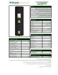 Unvented Heat Pump Cylinder EC-Eau ECS250HP-580 ... - Dimplex