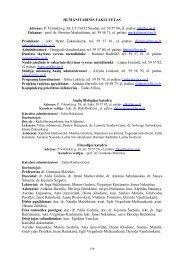 HUMANITARINIS FAKULTETAS Adresas: P. Višinskio g. 38, LT ...