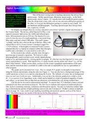 Digital Spectroscopy - Classroom Astronomer Magazine
