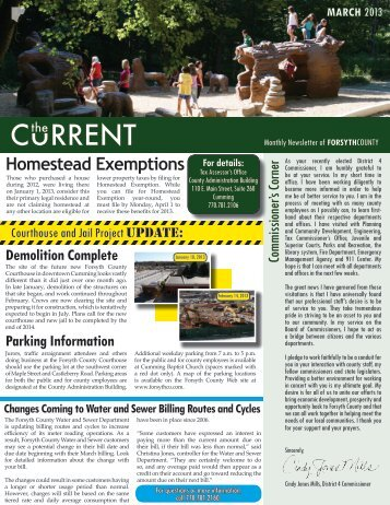 March 2013 Issue - Forsyth County Government