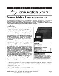 Advanced digital and IP communications servers - Convergent ...