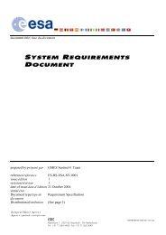 System Requirements Document - Emits - ESA