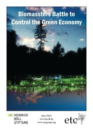 Biomassters Battle to Control the Green Economy - ETC Group