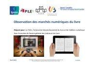 Observation des marchés numériques du livre - Service Général des ...