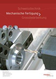 Mechanische Fertigung - PROMEC-ESTECH AG