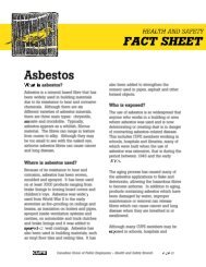 Health and Safety Fact Sheet