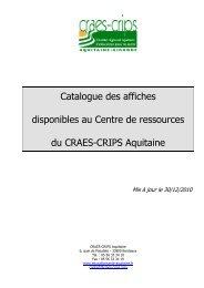 Catalogue des affiches disponibles au Centre de ... - Ireps Aquitaine