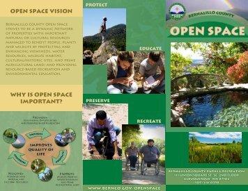 Open Space Brochure - Bernalillo County