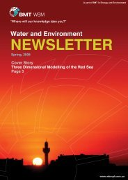 Water and Environment NEWSLETTER - BMT Group