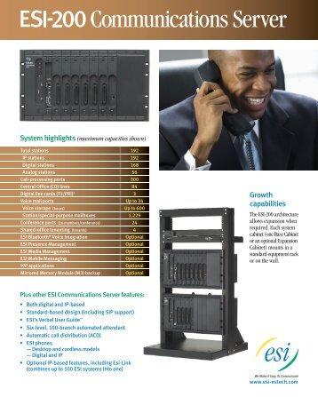 ESI-200 spec sheet - Advanced Micro Technologies
