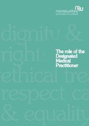 designated medical practitioner (DMP) - Mental Welfare ...