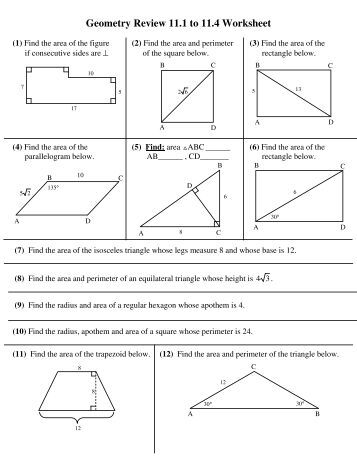 Circle Geometry Review Sheet - Fredericton High School