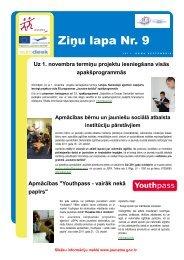 Ziņu lapa Nr. 9 - Jaunatnes starptautisko programmu aģentūra