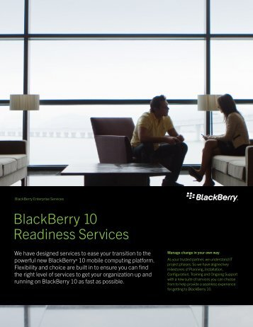 BlackBerry 10 Readiness Services
