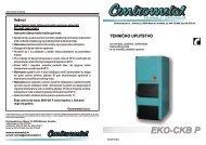 EKO-CKB-P 20-50 - tehničke upute - Centrometal