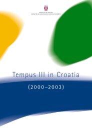 Brošura TEMPUS III u Hrvatskoj
