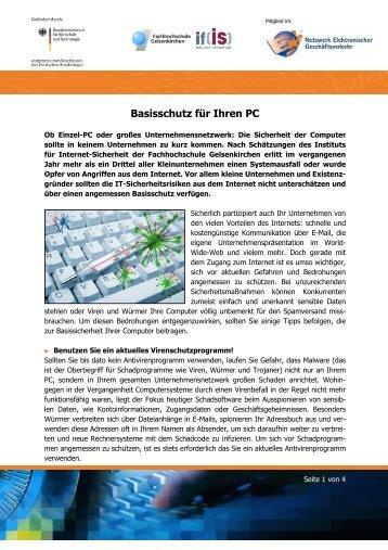 Basisschutz für Ihren PC - Institut für Internet-Sicherheit