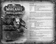 World of Warcraft: Wrath of the Lich King - Blizzard Entertainment