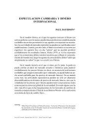 ESPECULACION CAMBIARIA Y DINERO INTERNACIONAL