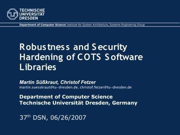 Presentation PDF - Se.inf.tu-dresden.de - Technische Universität ...