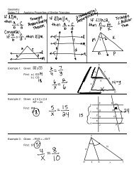 Geometry Notes 7.4 Applying Properties of Similar Triangles ...