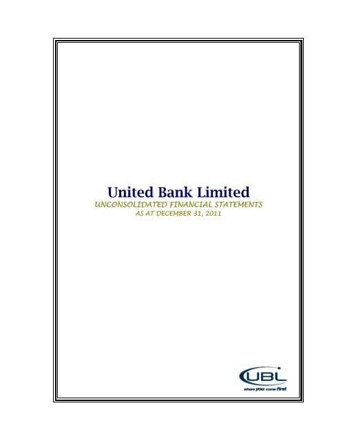 UBL Financial Statements - United Bank Limited