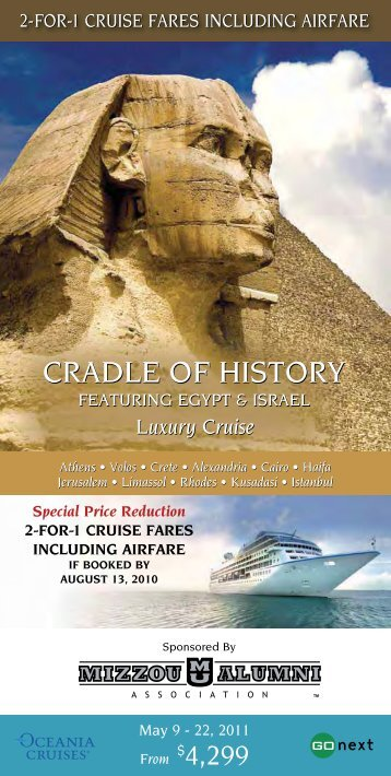 cradle of history cradle of history - Mizzou Alumni Association
