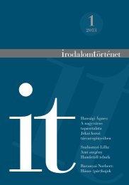 2013/1. szám - Irodalomtörténet