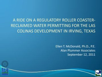 a ride on a regulatory roller coaster - WateReuse Association