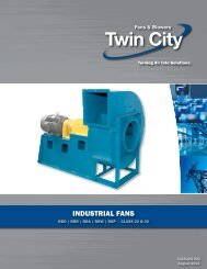 Industrial Fans Class 22 & 32 - Catalog 902 - Twin City Fan & Blower