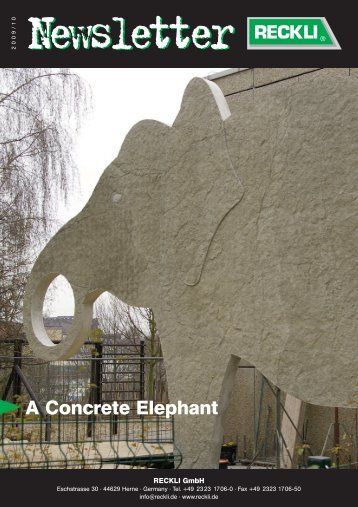 A Concrete Elephant - RECKLI GmbH: Home