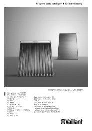 Spare parts catalogue Ersatzteilkatalog - Vaillant