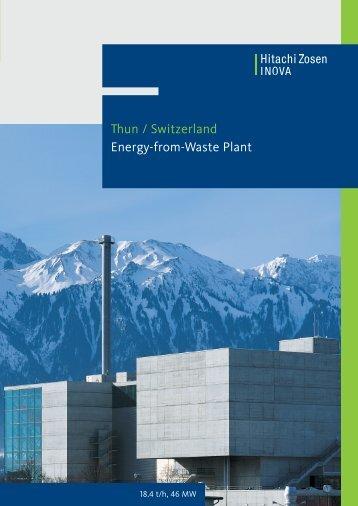Thun / Switzerland Energy-from-Waste Plant - Hitachi Zosen Inova AG