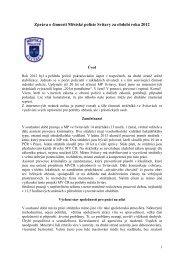 Zpráva o činnosti Městské policie Svitavy za rok 2012