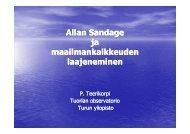 Allan Sandage ja maailmankaikkeuden laajeneminen