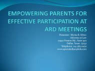 empowering parents for effective participation at ard meetings