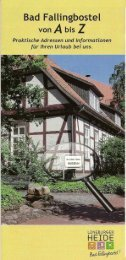 A bis Z für Bad Fallingbostel - Dorfmark Touristik eV