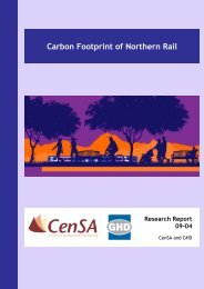 Carbon Footprint of Northern Rail - Centre for Sustainability ...